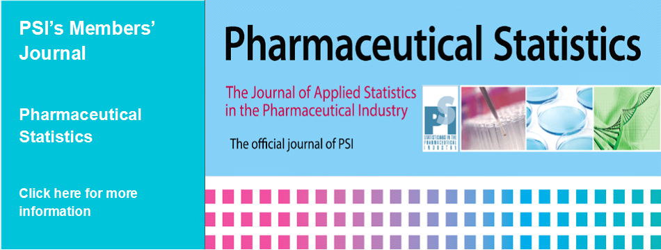 PSI's Member Journal - Pharmaceutical Statistics